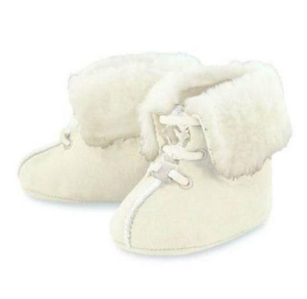 White Booties w/Fur