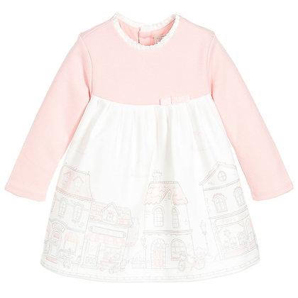 Pink City Print Dress