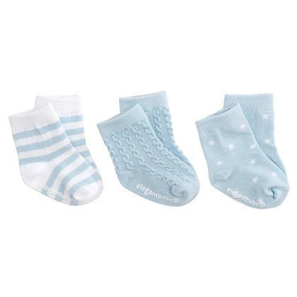 Organic Sock Set - Sky