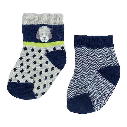2 Pair Puppy Sock Set - Green