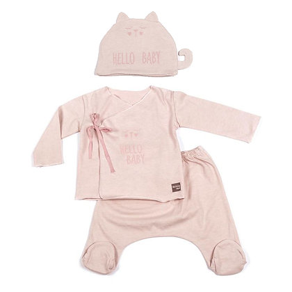 Hello Baby Cotton Set - Pink