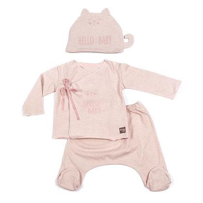 Hello Baby Cotton Set - Pink