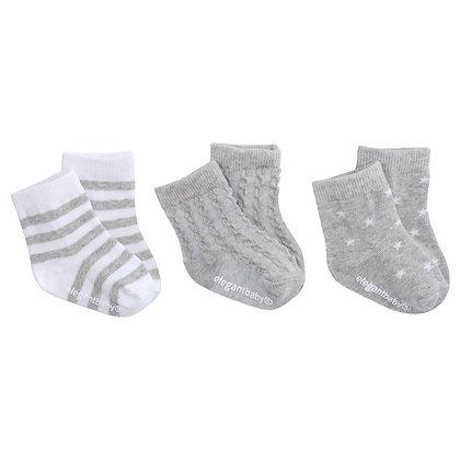 Organic Sock Set - Grey