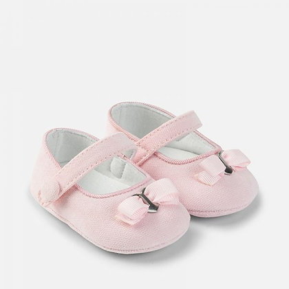 Heart Bow Maryjanes - Lt. Pink