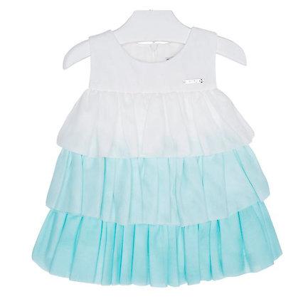 Aqua Ruffle Dress