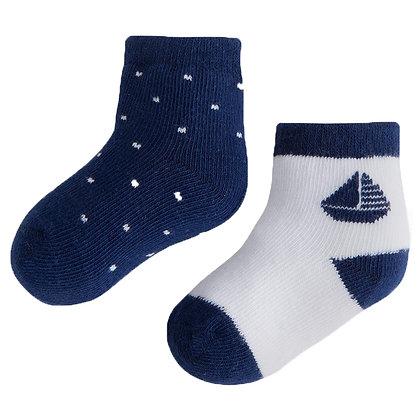 2 Pair Sock Set - Nautical