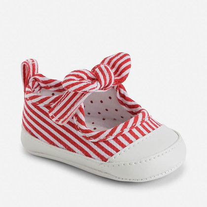 Red Stripe Mary Janes