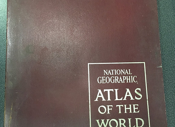 Gift Wrap or Craft Paper Idea: National Geographic / Atlas of the World (1970)