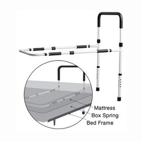 Riel de cama ajustable para el control de caídas con soporte de piso