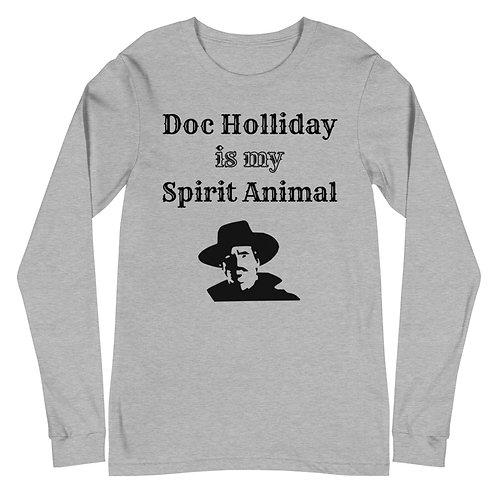 Doc Holliday Spirit Animal Unisex Long Sleeve Tee