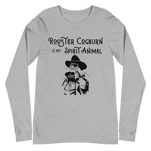 Rooster Cogburn Spirit Animal Unisex Long Sleeve Tee
