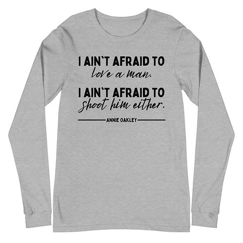 Annie Oakley Quote Unisex Long Sleeve Tee