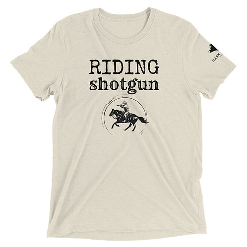 Riding Shotgun Mounted Shooter Unisex Short sleeve t-shirt