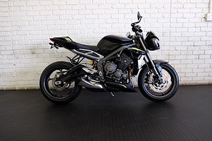 We just received one of the best naked motorcycles on the market, the Triumph Street Triple 765 RS.   This bike is packed with the best parts and technology. It comes with Ohlins shock, Brembo braking system, traction control, rider modes and up-down quick shifter. We have fitted a tail tidy and radiator guard.   The acid yellow and black is really striking to view in person.  The 3-cylinder engine has tons of grunt and sounds spectacular.   It is a 2021 model with just over 1000 kilometers. The selling price is R165,000.