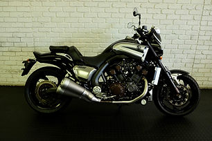 The king of all the muscle bikes. Even though this design is over 10 years old we don't think there are many modern motorcycles that can keep up.   The Yamaha V-max 1700 is a true beast of a motorcycle. It is designed to go down a drag strip as quickly as possible.   It is rare to find an example that hasn't been abused and has been tastefully modified - it is fitted with a fly screen and performance link pipe. We have been working on this motorcycle for a long time and know it's full history.   It is a 2009 model with only 8840 kilometres. The selling price is R275,000.   We may have a brand new Akrapovic exhaust coming in for this motorcycle. We may fit it to this motorcycle.