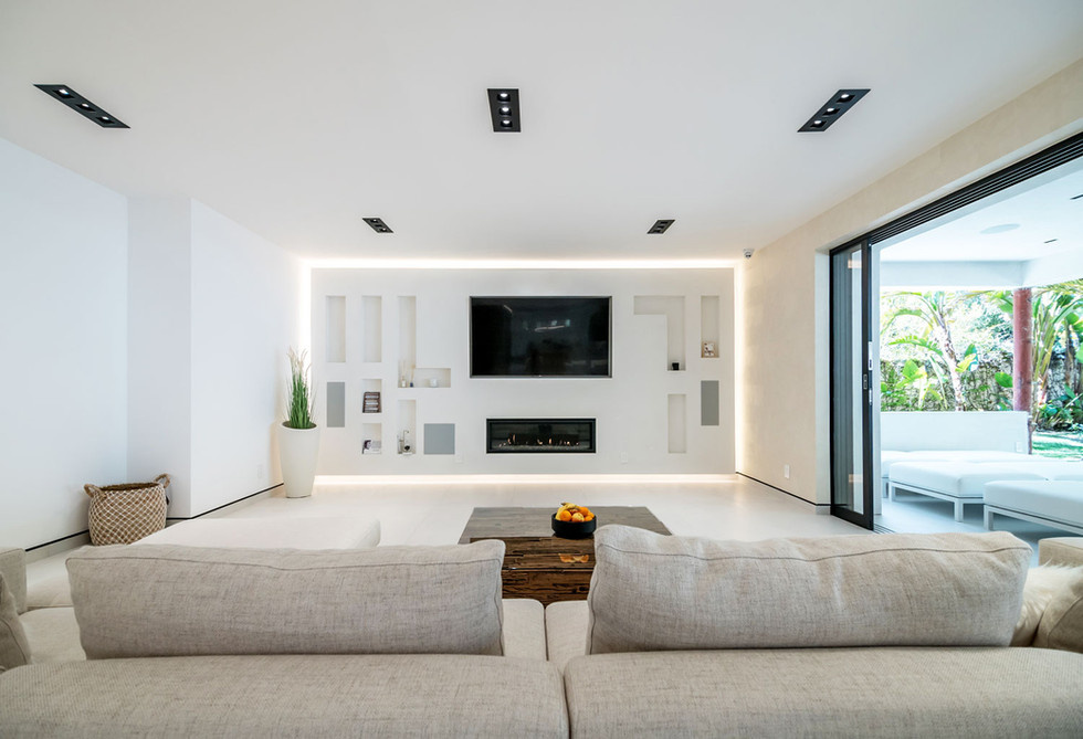 Living room floating wall