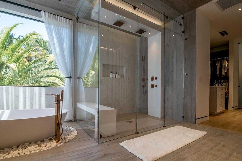 Master bathroom shower module