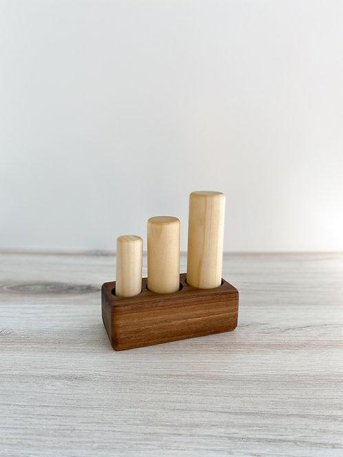 Mini Wooden Peg Stand