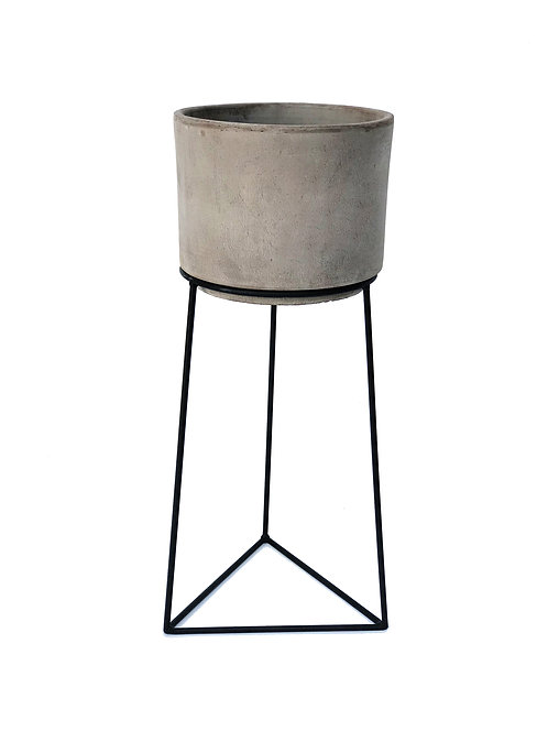 Ivy Clay Planter + Triangle Stand - Large