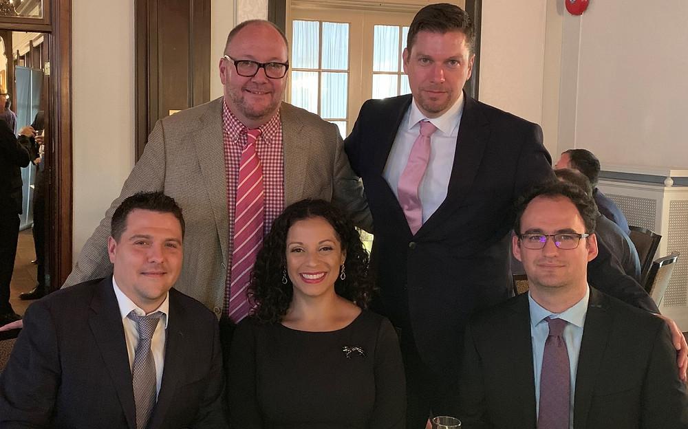 Gregory Lawrence, Arthur Salzer, Grant Dawes, Alexandra Salzer and Victor Kuntzevitsky