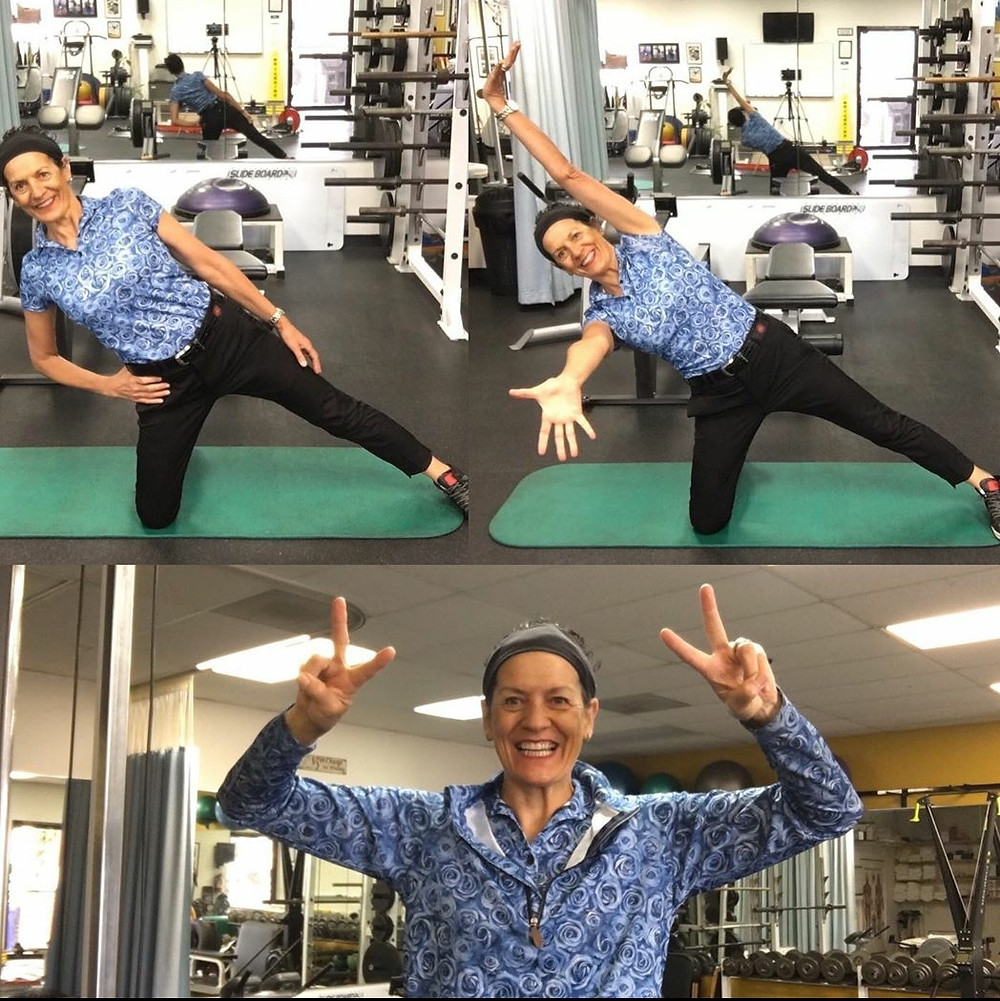 mobility, stretching, core muscles, strength, fitness, Janet Alexander, gym, training, conditioning, fun, energetic, enthusiastic