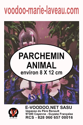 Parchemin animal 8x12 cm