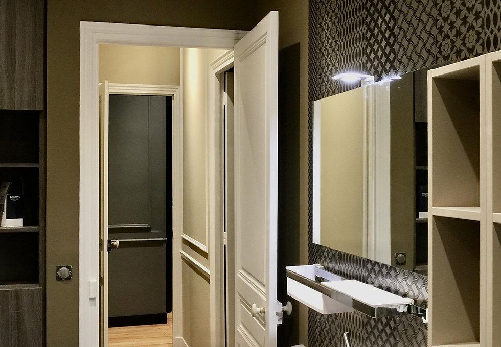 Peinture salle de bain et couloir