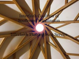 Nov. 23rd 7pm Interfaith Thanksgiving Eve Service