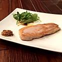 三田ポークの自家製ロースハム 厚切りステーキ