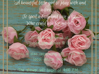 Sunday May 22nd 4pm Baby Shower