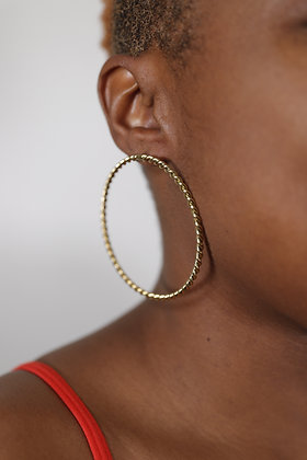 Brass Twisted Hoops