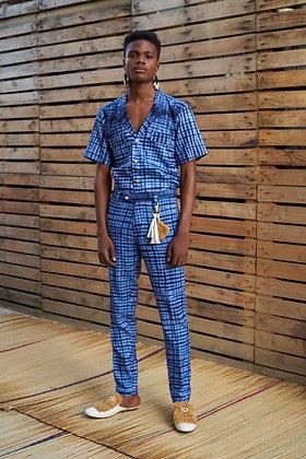 Check Tie-Dye Lapel Shirt - AW19