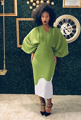 "Wanni Fuga ""Tami"" Dress in Green"