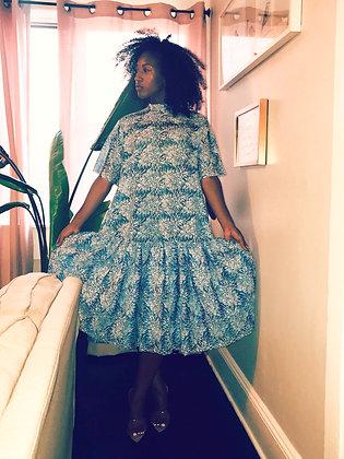 Charlotte Prive Flower Embroidered Dress