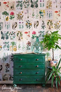 Amsterdam Green botanical chest of drawe