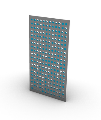 Perforated Mirrored Metal Material