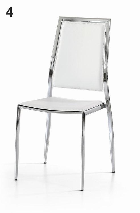 Set di 4 sedia DIVA in metallo cromato