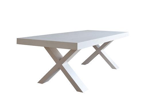 "Tavolo ""X"" allungabile bianco"
