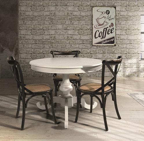 Tavolo tondo allungabile CIRDO laccato bianco