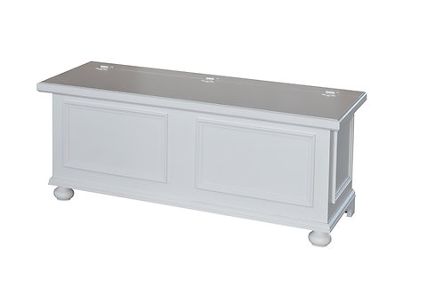 Cassapanca BOX laccata bianca