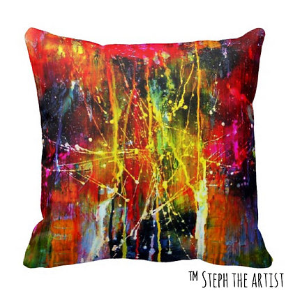 Polyester Throw Pillow / Fiesta