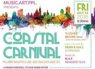 Coastal Carnival at PLURR Nightclub Oct 14'th