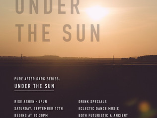 Saturday, September 17th - Under the Sun - with Jfun (Jordan David), Juno-Nominated producer and DJ