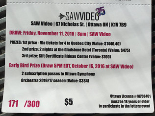 Win A Season Pass To The Ottawa Symphony - SAW Video Raffle