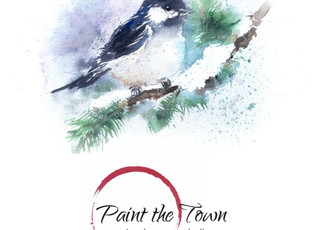 Watercolor Class / Tues Dec 6th @7pm / Cheeky Chickadee