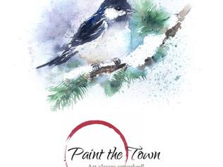 Watercolor Class / Tues Dec 6th @7pm / Cheeky Chickadee