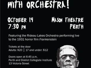 The Ontario premiere of Frankenstein, it's alive… with orchestra!