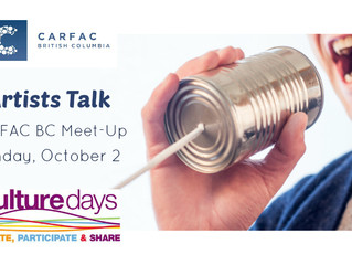 "Join Steph Limage for ""Artist Talks"" - Culture Days Vancouver 2016 @Beaumount Studios"