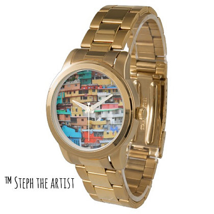 Jalousie Haiti / Gold Bling God Father Watch