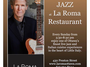 Weekly Sunday Night Jazz |  La Roma Restaurant